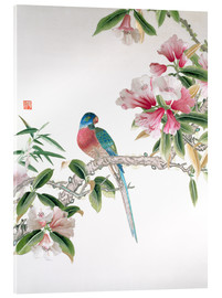 Acrylic print  Jay on a flowering branch - Chinese School