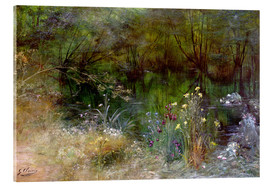 Acrylic print  A lake with Naiads - Georges Jules Victor Clairin
