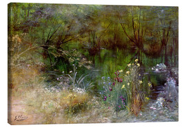 Canvas print  A lake with Naiads - Georges Jules Victor Clairin
