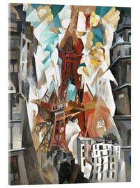 Acrylic glass  Champs de Mars: The Red Tower - Robert Delaunay