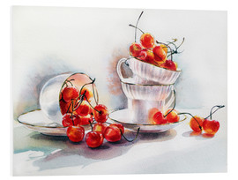 Foam board print  cups&cherries - Maria Mishkareva