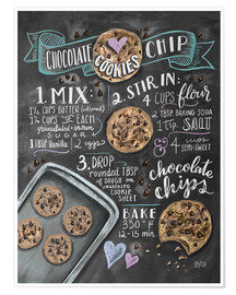 Premium poster Chocolate chip cookies recipe.