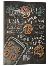 Wood  Chocolate chip cookies recipe. - Lily & Val
