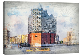 Canvas print  The new Elbphilharmonie, Hamburg - Peter Roder