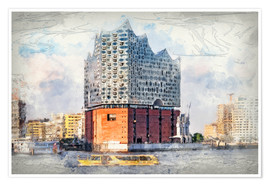 Premium poster  The new Elbphilharmonie, Hamburg - Peter Roder