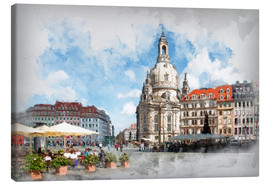 Canvas print  Frauenkirche in Dresden - Peter Roder