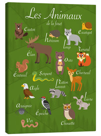 Canvas print  Forest animals - French - Kidz Collection