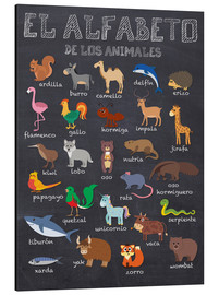 Aluminium print  Alphabet of Animals - Spanish - Kidz Collection