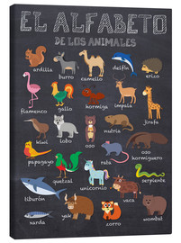 Canvas print  Alphabet of Animals - Spanish - Kidz Collection