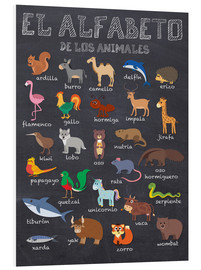 Foam board print  Alphabet of Animals - Spanish - Kidz Collection