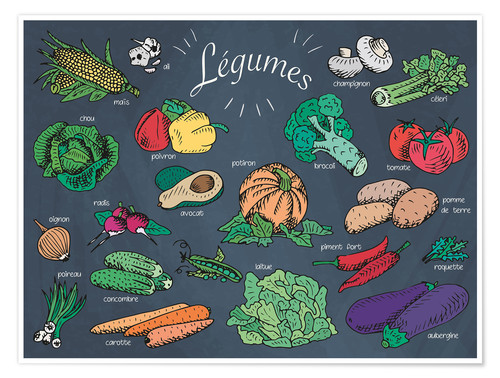 Premium poster Vegetables - French