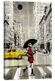 Canvas print  Walking in the red coat - Loui Jover