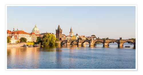 Premium poster Charles Bridge in Prague