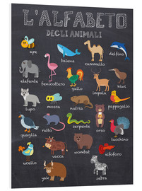 Foam board print  Alphabet of Animals (Italian) - Kidz Collection