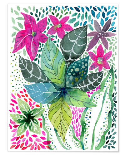 Premium poster Leafy Tropical