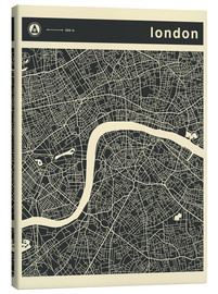 Canvas  LONDON CITY MAP - Jazzberry Blue