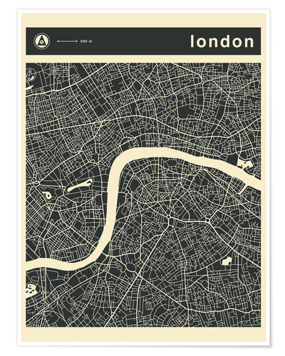 Premium poster LONDON CITY MAP