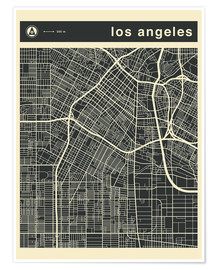 Premium poster  Los Angeles City map - Jazzberry Blue