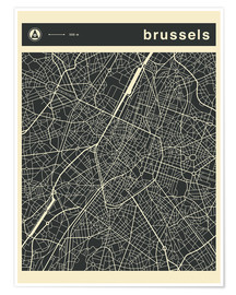 Premium poster BRUSSELS CITY MAP