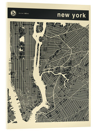 Acrylic glass  NEW YORK CITY MAP - Jazzberry Blue