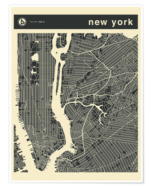 Premium poster NEW YORK CITY MAP