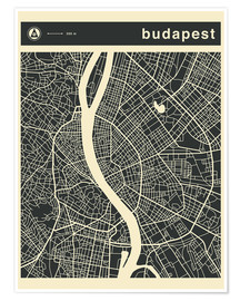 Premium poster Budapest City Map