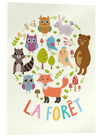 Acrylic glass  The Forest (French) - Kidz Collection