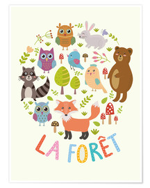 Premium poster  The Forest (French) - Kidz Collection