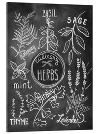 Acrylic glass  Herbs - Lily & Val
