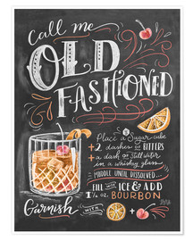 Premium poster  Old fashioned recipe - Lily & Val