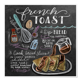 Premium poster French toast recipe