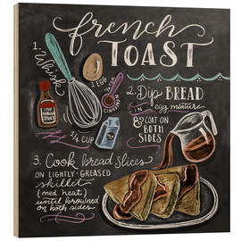 Wood print  French toast recipe - Lily & Val