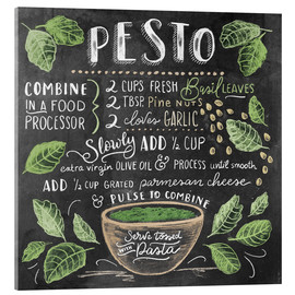 Acrylic glass  Pesto recipe - Lily & Val