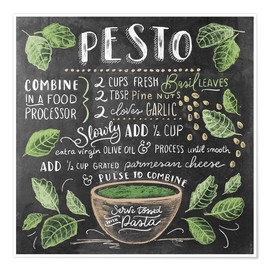 Poster  Pesto recipe - Lily & Val