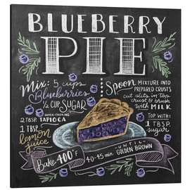 Aluminium print  Blueberry pie recipe - Lily & Val