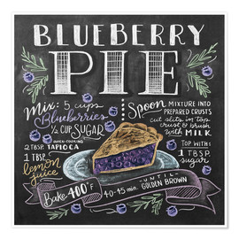 Premium poster Blueberry pie recipe