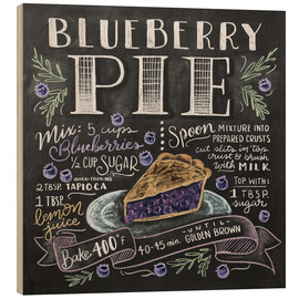 Wood print  Blueberry pie recipe - Lily & Val
