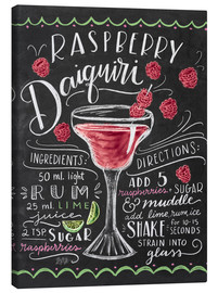 Canvas print  Raspberry daiquiri receipe - Lily & Val