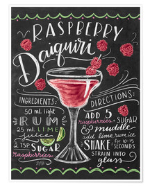 Poster Raspberry daiquiri receipe