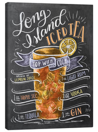 Canvas print  Long Island Ice Tea recipe - Lily & Val