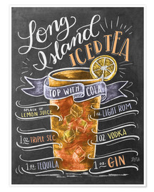 Poster  Long Island Ice Tea recipe - Lily & Val