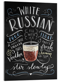 Acrylic glass  white russian - Lily & Val