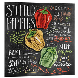 Acrylic print  Stuffed peppers recipe - Lily & Val