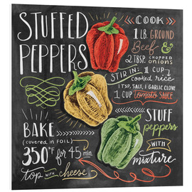 Foam board print  Stuffed peppers recipe - Lily & Val