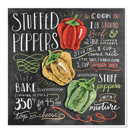 Premium poster Stuffed peppers recipe