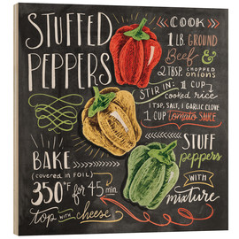 Wood print  Stuffed peppers recipe - Lily & Val