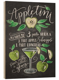 Wood print  appletini - Lily & Val