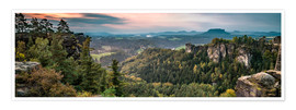 Premium poster  Saxon Switzerland in autumn, Saxony, Germany - Jan Christopher Becke