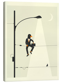 Canvas print  MAN ON A WIRE - Jazzberry Blue