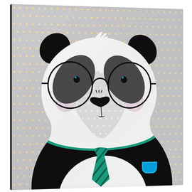 Alu-Dibond  Panda with Glasses - ilaamen Pelshaw